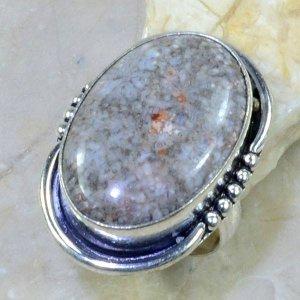 טבעת כסף בשיבוץ אבן ג'ספר אוושן אפרפר מידה: 9