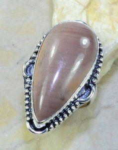 טבעת כסף בשיבוץ אבן ג'ספר חום אפרפר מידה: 7