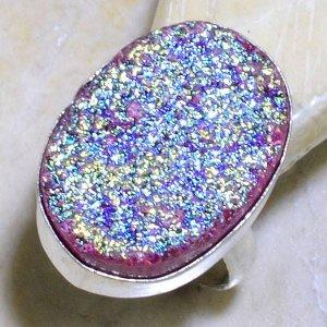 טבעת כסף בשיבוץ אבן טיטניום מידה: 8.75