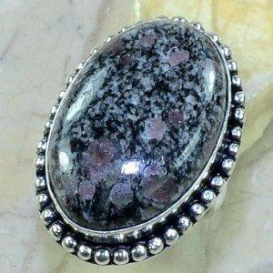 טבעת כסף בשיבוץ אבן רובי זוסילייט מידה: 6.75
