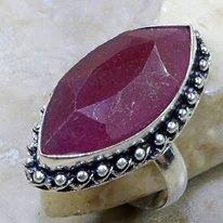 טבעת כסף בשיבוץ אבן רובי מידה: 8.25
