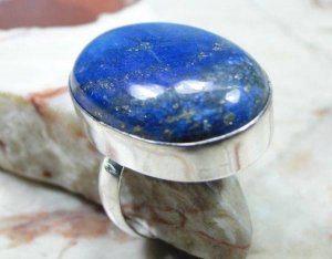 טבעת כסף בשיבוץ לאפיס לג'ולי מידה: 8