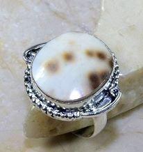 טבעת כסף בשיבוץ צדף מידה: 8.75