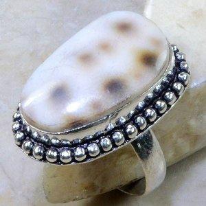 טבעת כסף בשיבוץ צדף מידה: 9.25
