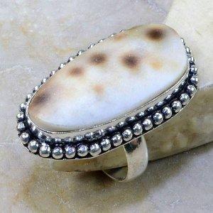 טבעת כסף בשיבוץ צדף מידה: 8