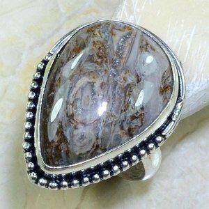 טבעת כסף בשיבוץ אבן ג'ספר אפרפר מידה: 10