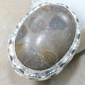 טבעת כסף משובצת אבן ג'ספר אוטומן מידה: 7.75