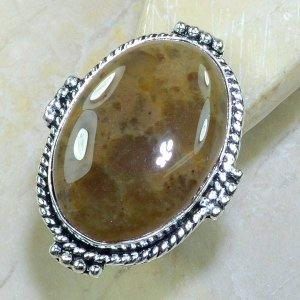 טבעת כסף משובצת אבן ג'ספר מידה: 9.5