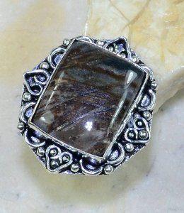 טבעת כסף משובצת אבן ג'ספר פיקסו מידה: 8.75