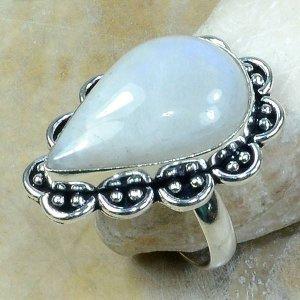 טבעת כסף משובצת אבן מונסטון מידה: 10.5