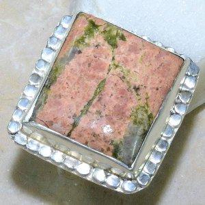 טבעת כסף משובצת באבן יוניקיט מידה: 7.25