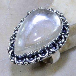 טבעת כסף משובצת באבן רוטילייד קוורץ מידה: 6.75