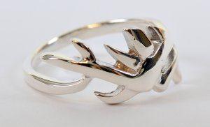 טבעת כסף 925 עיצוב צעיר