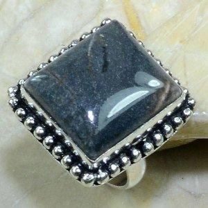 טבעת כסף בשיבוץ אבן ג'ספר ירוק מידה: 8