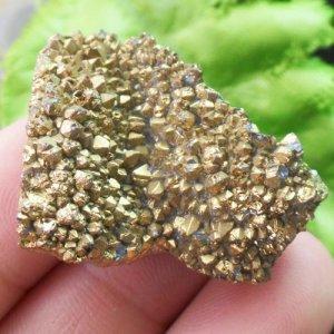 """מושבת אגט טיטניום זהב גודל: 25*30 מ""""מ"""