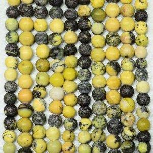 """שרשרת מאבני ג'ספר צהוב שחור מידה: 4 מ""""מ"""