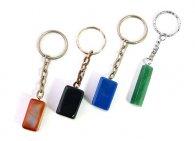 מחזיק מפתחות מאבן אוונטורין ירוק אגט כחול או כתום