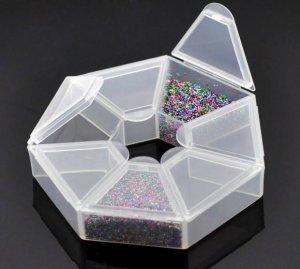 """קופסת פלסטיק לחרוזים מידה: 9*9 ס""""מ"""