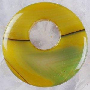 תליון מאבן אגט אוניקס ירוק צהוב