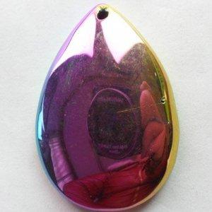 תליון מאבן אגט טיטניום צבעי סגול