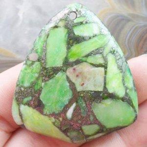 תליון מאבן טורקיז מעורב בפיריט
