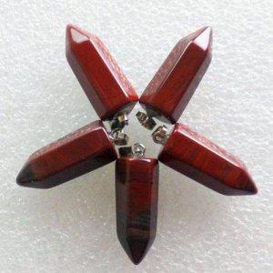 תליון מאבן טייגר אי אדום עיצוב עיפרון
