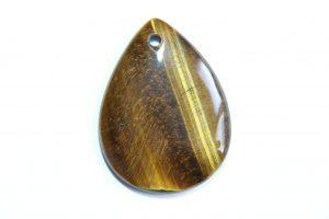 תליון מאבן טייגר אי זהב עיצוב טיפה