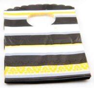 """50 אריזות עם ידית צהוב שחור מידה: 9*15 ס""""מ"""