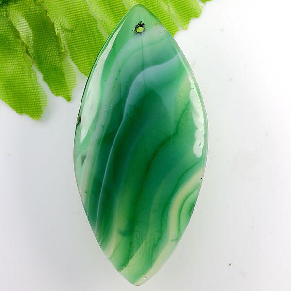תליון מאבן אגט אוניקס גווני ירוק
