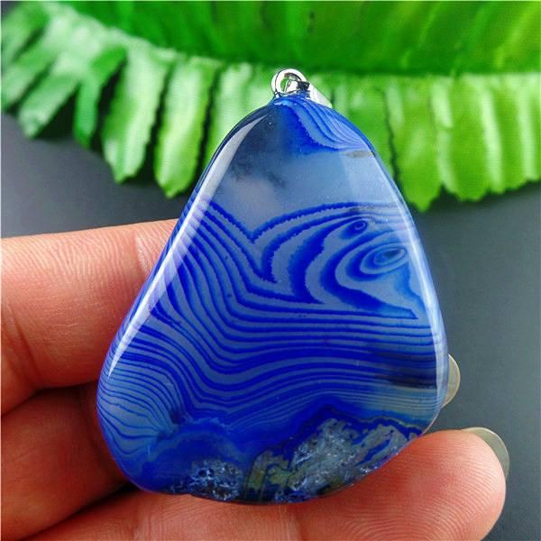 תליון מאבן אגט אוניקס גווני כחול