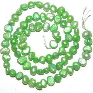 """שרשרת פנינים גוון ירוק מידה: 5*8 מ""""מ"""