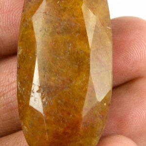 ספיר צהוב מלוטש לשיבוץ (מדגסקר) 95 קרט מידות: 13*19*40