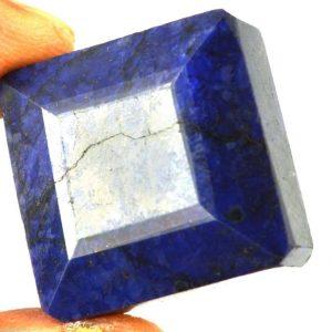 ספיר כחול מלוטש לשיבוץ (אפריקה) 63 קרט מידות: 12*22*22 עיצוב מרובע