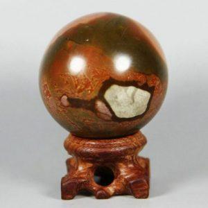 """כדור מאבן ג'ספר צבעי אדמה משקל: 200 גרם קוטר מידה: 53 מ""""מ"""