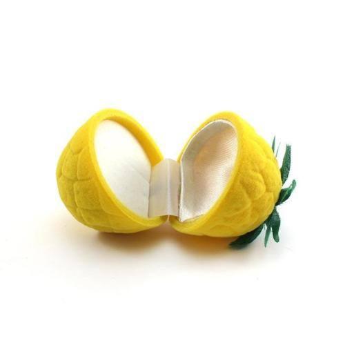 קופסת אריזה לטבעת דמוי לימון
