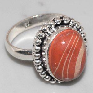 טבעת בשיבוץ אבן ג'ספר מוזאיקה כסף 925 מידה: 9