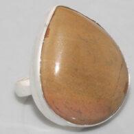 טבעת בשיבוץ אבן ג'ספר פיקצ'ר כסף 925 מידה: 7.5