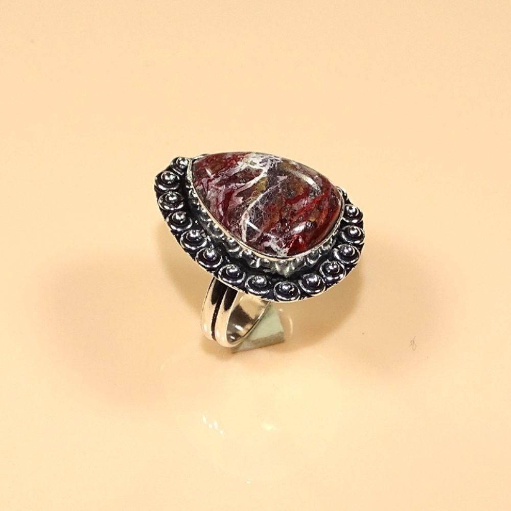 טבעת כסף בשיבוץ קרייזי ליס אגט מידה: 9