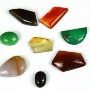 8 יחידות אגט אוניקס מלוטש לשיבוץ (אפריקה) בצורות וצבעים מגוון