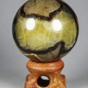 כדור קלציט ספקטרום ומעמד עץ משקל: 173גרם