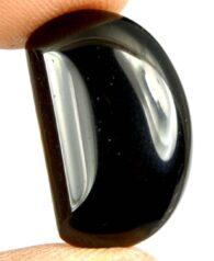 אגט שחור מלוטש לשיבוץ (תימן) 12.35 קרט