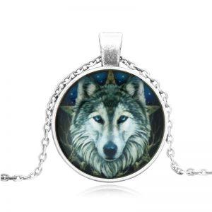 תליון ושרשרת ויקה זאב מוכסף סמל למתנת היכולת להדריך אנשים
