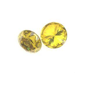 """יהלום צהוב מלוטש איכותי 0.09 קרט מידה: 2 מ""""מ"""