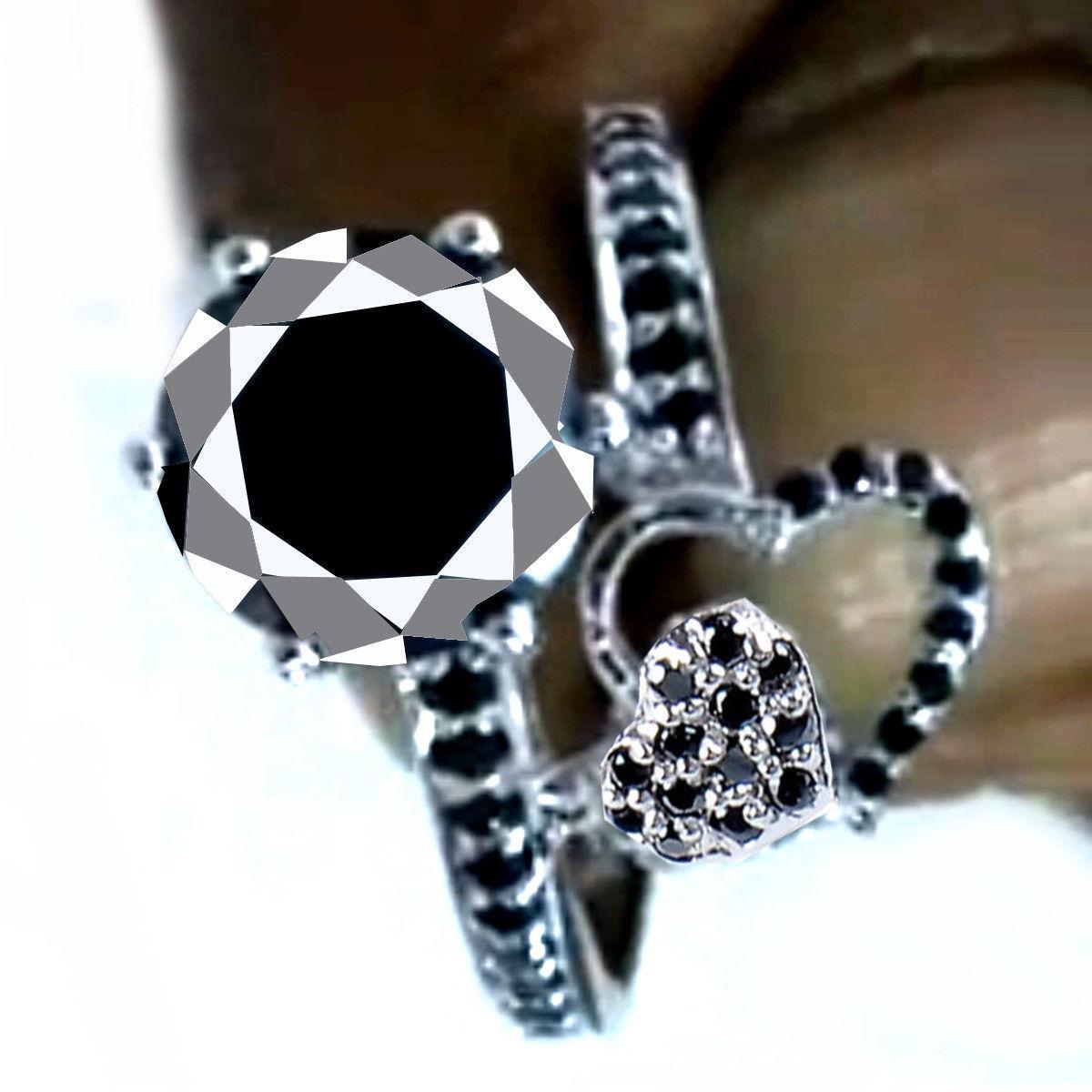 טבעת כסף 925 בשיבוץ מואסניט 3.51 קרט מידה: 8