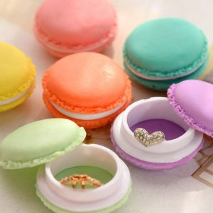 6 קופסאות תכשיטים דגם מקרון בצבעים