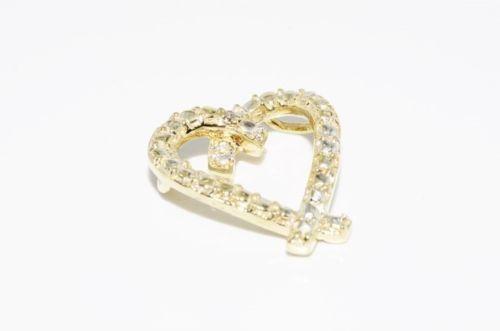 תליון לב זהב 10 קרט בשיבוץ יהלום