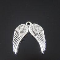 """תליון כנפי מלאך מוכסף מידה: 15*16 מ""""מ"""