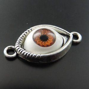 """עין מוכסף (הגנה מעין הרע) מידה: 7*15*30 מ""""מ"""