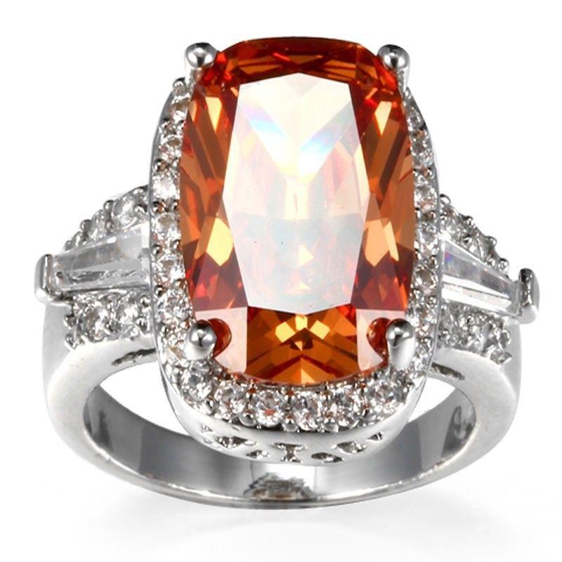 טבעת מוכסף בשיבוץ טופז מידה 6 ומידה 8