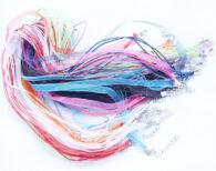 10 סרטי קולר בצבעים סוגר מוכסף
